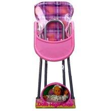 Pink Children's Doll High Chair - Dolls Childrens Toy Little Girls Toy Roleplay - Dolls High Chair Childrens Toy Little Girls Toy Roleplay
