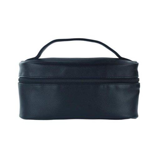 Picnic Gift 7528-BK Lemondrop-Chic & Classy Insulated Cosmetics Bag For The Minimalist Cosmoqueens, Black Birmingham