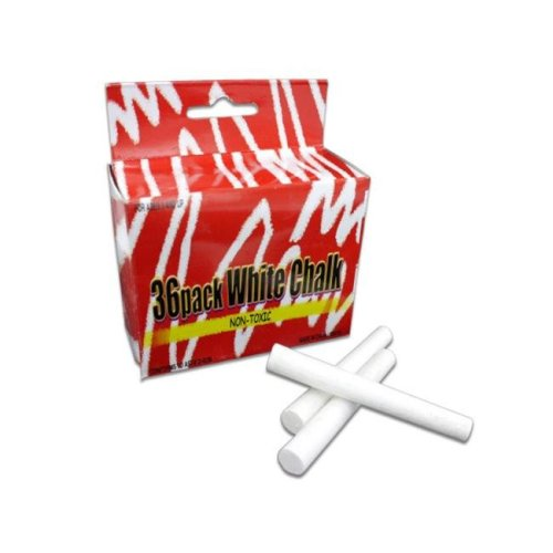 "Bulk Buys KK019-72 2 3/4"" White Chalk in a Hanging Box - Case of 72"