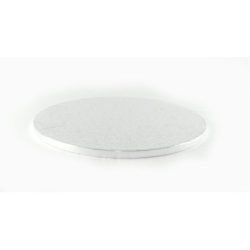 """8"""" Silver Round Cake Drum Board 12mm Thick"""