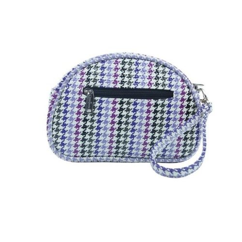 Picnic Gift 7420-HT Pina Colada-Clutch Insulated Cosmetics Bags with Removable Wristlet, Houndstooth