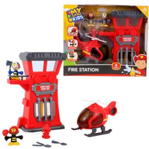 DDI 2324051 Fire Station Playset, Red - 8 Per Pack - Case of 8