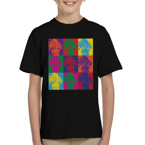 Final Fantasy Cloud Warhol Print Kid's T-Shirt