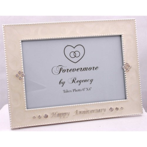 "Happy Anniversary photo frame 6"" x 4"" by Regency Fine Arts"