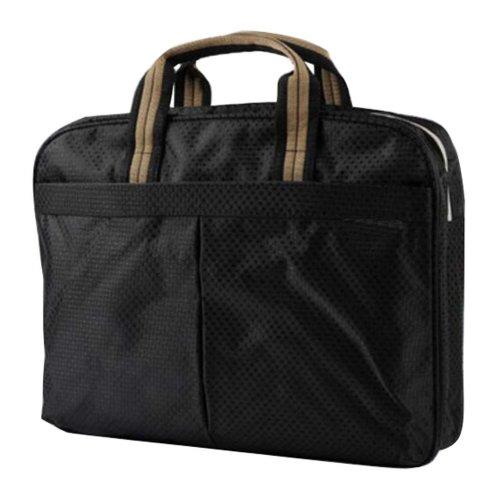 Multilayer Thicker File Holder Zippe Briefcase Information Bag-Black2
