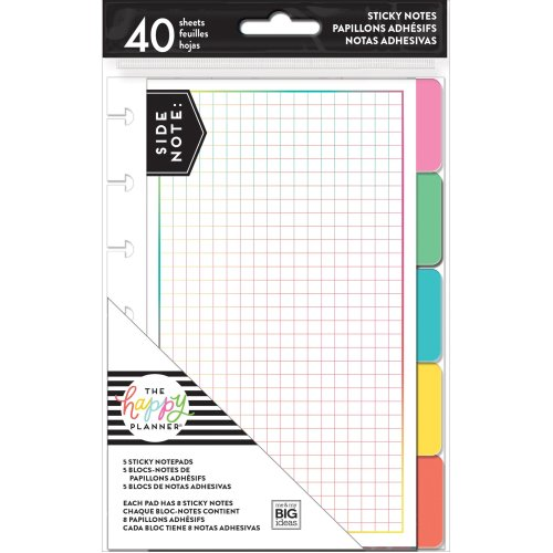Happy Planner Sticky Notes 40/Pkg-Brights, 5 Designs/8 Each