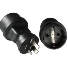 Microconnect PEAUS3PSCH Type F Black power plug adapter