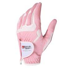 Classic Simple Design Women Golf Gloves Non-slip Sport Gloves(Pink&White) #17