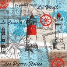 4 x Paper Napkins - Sea Breeze - Ideal for Decoupage / Napkin Art