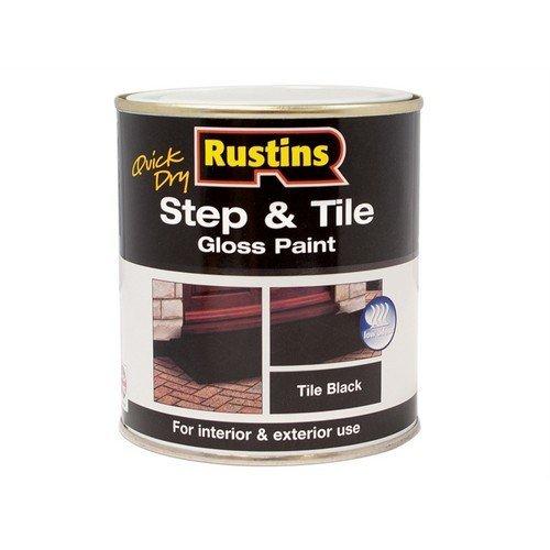Rustins STBLW250 Quick Dry Step & Tile Paint Black 250ml
