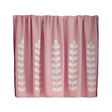 [Pink Leaves]Short Kitchen Cloth Curtain Small Window Half Curtain Cafe Curtain