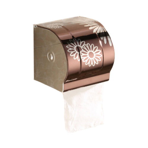 Bathroom Tissue Holder/Toilet Paper Holder,Stainless Steel,brown
