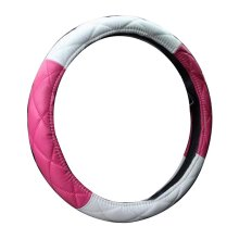 Lovely Leather Steering Wheel Covers Car Accessories Pink&White