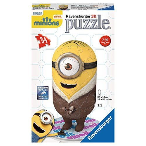 "Ravensburger 11667 6 ""Minion - Bored Silly"" 3D Puzzle (54-Piece)"