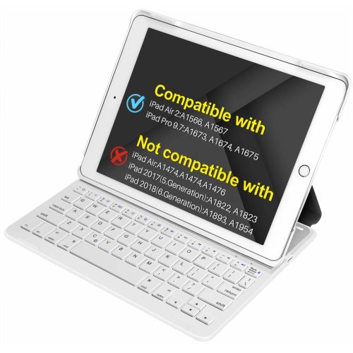 pretty nice 5d286 0341d Inateck iPad Air 2,iPad Pro 9.7 Inch Keyboard Cover with Intelligent ...