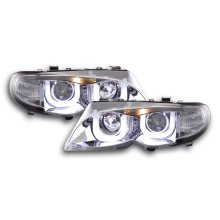 Angel Eye headlight  BMW serie 3 E46 saloon/Touring Year 02-05 chrome