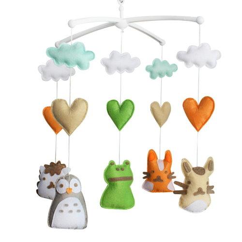 Handmade Nursery Decor Gift, Crib Mobile, [Animals], Colorful Toy