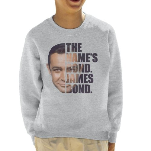 James Bond Half Head Text Kid's Sweatshirt