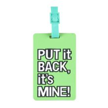Set Of 2 Luggage Tag Bag Tags Silicone Name Tag Travel Tag [PUT IT BACK]