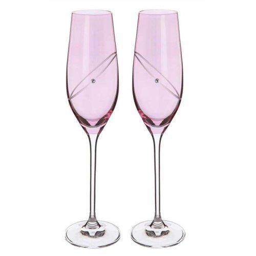 Ruby Celebrate Crystal Flutes (pair) by Dartington Crystal