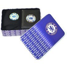 Chelsea F.c. Supporters Wallet And Socks Tin - Football Team Official Gift Set -  football team official supporters wallet socks tin gift set mens
