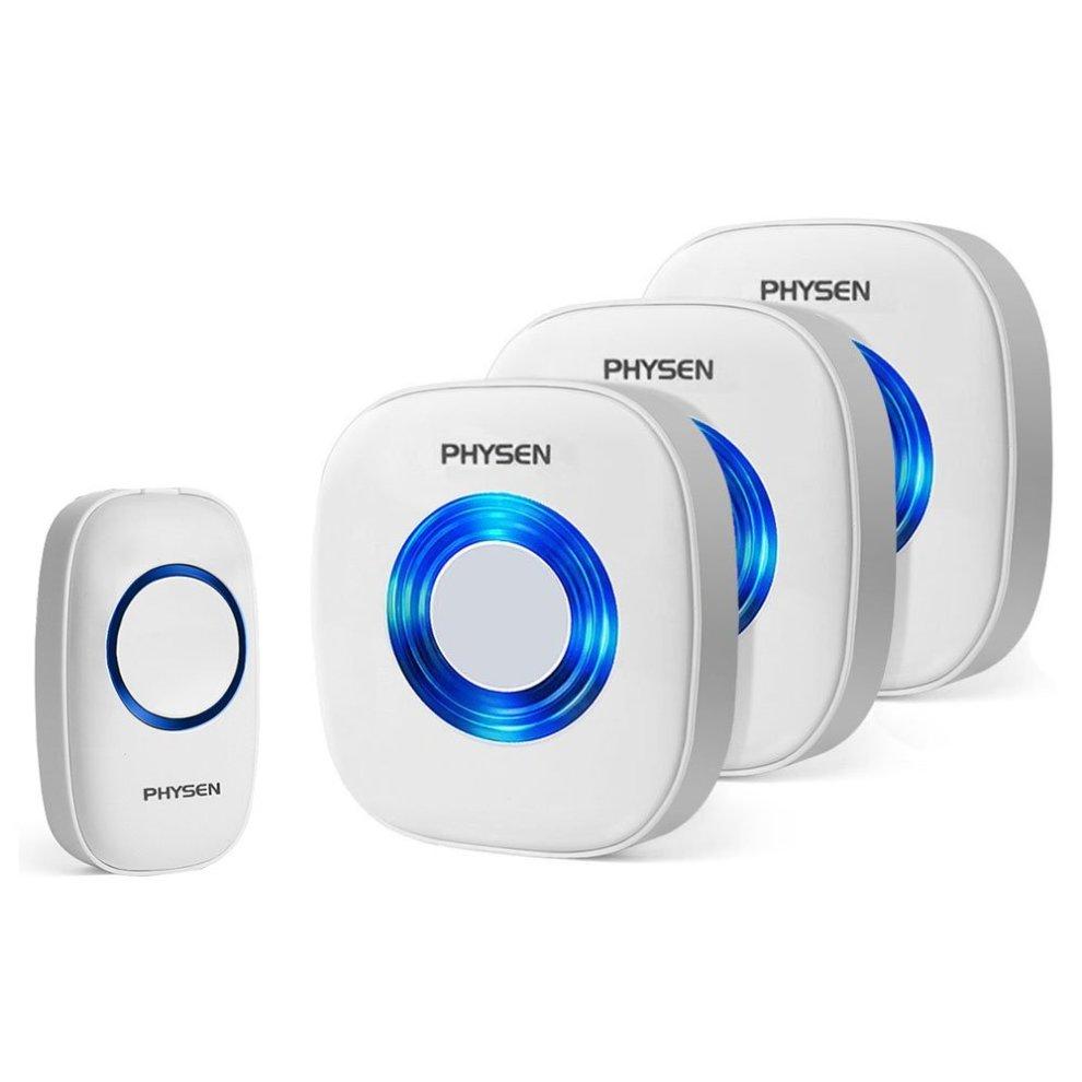 BITIWEND Portable IP55 Waterproof Plug In Doorbell,1000-feet Range ...
