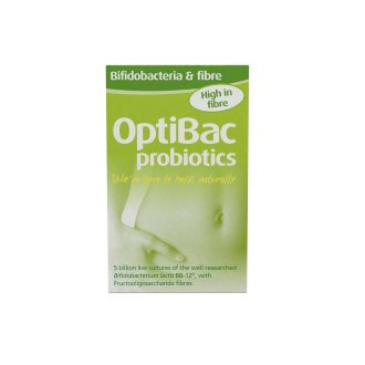 Optibac Probiotics Bifidobacteria & Fibre, Pack of 10 Sachets