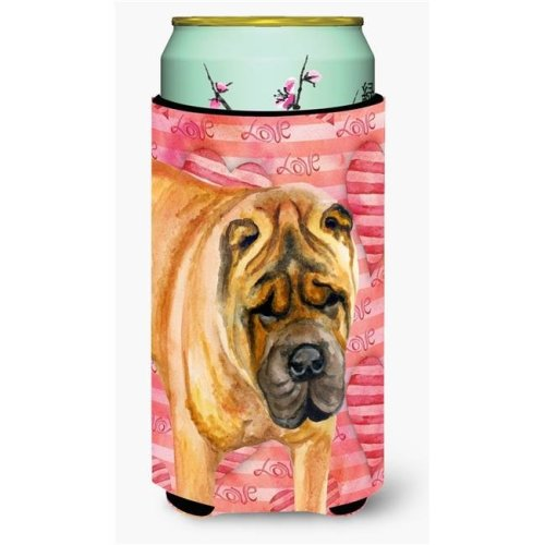 Carolines Treasures BB9748TBC Shar Pei Love Tall Boy Beverage Insulator Hugger
