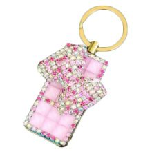 Rechargeable Lighter Stylish Rhinestone Windproof Cigarette Lighters with USB, A7