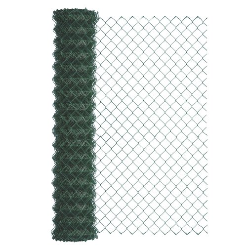 GAH-Alberts 604721 Wire Netting 15 m Roll Plastic-Coated Height 1250 mm Mesh Size 60 x 60 mm Wire Diameter 2.8 mm RAL 6005 Green