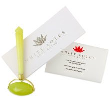 White Lotus Jade Roller, Jade Facial Roller, Ideal Beauty roller for facial skin