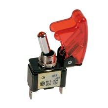 Pilot La_45556 On/off Switch Missile-style With Red LED 12v 20a