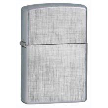 Regular Linen Weave Zippo Lighter - Windproof Brand New -  regular linen weave windproof lighter brand new