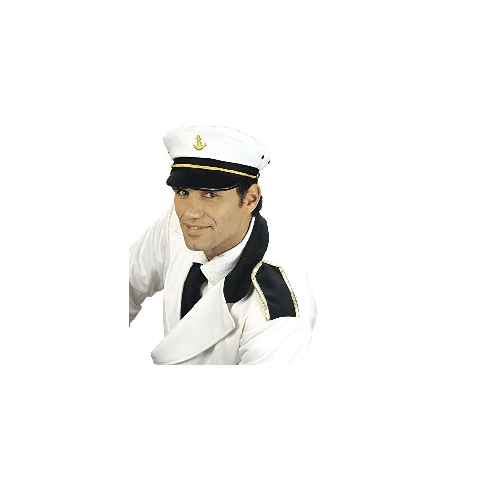 1b6219fe34c Captain Peaked Fabric Novelty Hats Caps   Headwear For Fancy Dress Costumes  - hat captains white marine peaked on OnBuy