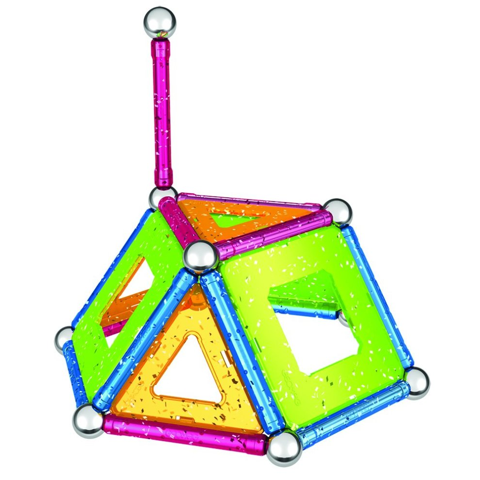 Glitter 44 Pieces Geomag Construction Set