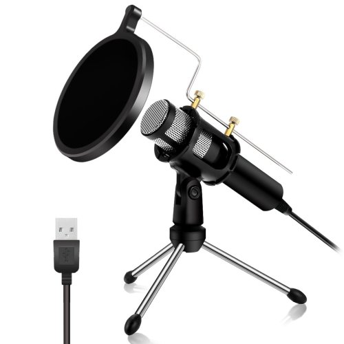 PC Microphone - NASUM USB Plug & Play Professional Home Studio Condenser Microphone USB Microphone for Podcast, Recording,Online Chatting Such as...
