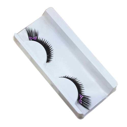 3 PCS Party Eyelashes Black and Rhinestone Style False Eyelashes