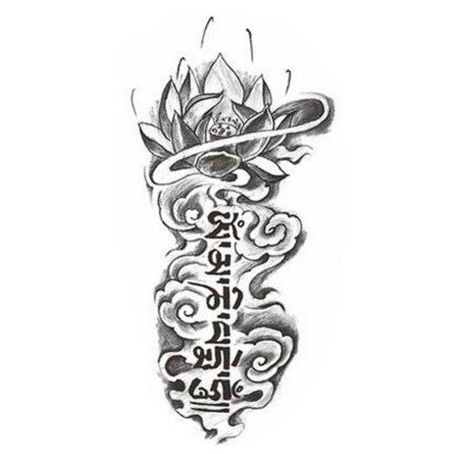 Creative Lotus Totem Tattoo Stickers Fashion Fake Body Tattoos Tattoo Design
