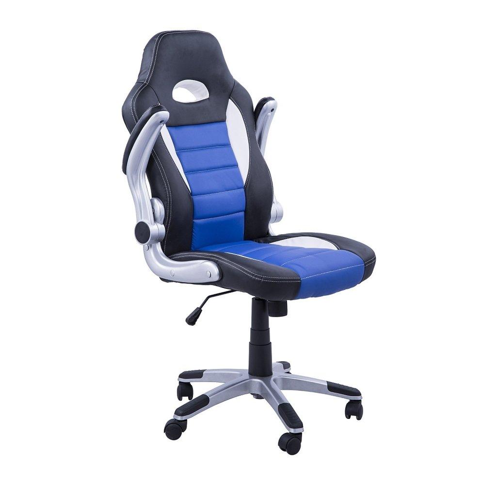 Homcom swivel office chair pu leather racing computer chair 3