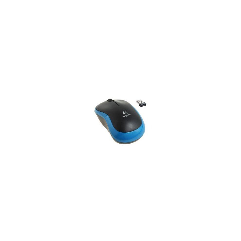 Logitech M185 Wireless Notebook Mouse Usb Nano Receiver Black Blue B100 1