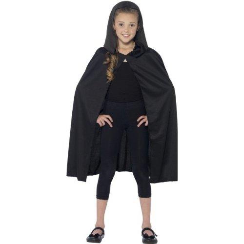 Kids Black Hooded Vampire Cape