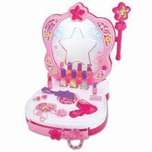 Glamour Mirror Dressing Table With Magic Mirror,light & Sound - Girl Kids -  mirror glamour dressing table girl kids children magic makeup princess