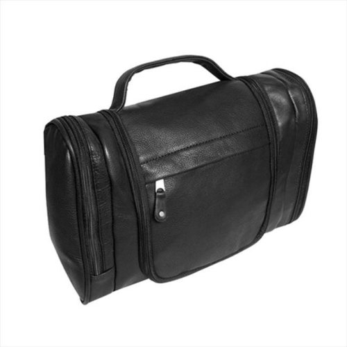 a08a15591 Canyon Outback Leather T527-03 Hackberry Canyon Hanging Leather Toiletry Bag,  Black on OnBuy