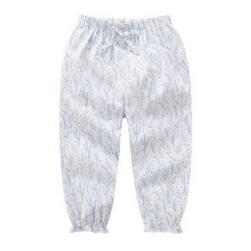 Comfortable Soft Children's Trousers, White Bottom And Blue Grass