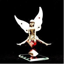 Crystal and Metal Fairy with Heart Ornament