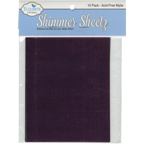 "Elizabeth Crafts Mylar Shimmer Sheetz Sampler 5""X4"" 10/Pkg-Multicolor"