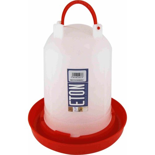 Eton Poultry Plastic Drinker with Handle, 6 Litre
