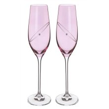 Ruby Celebrate Crystal Flutes (pair) by Dartington Crystal