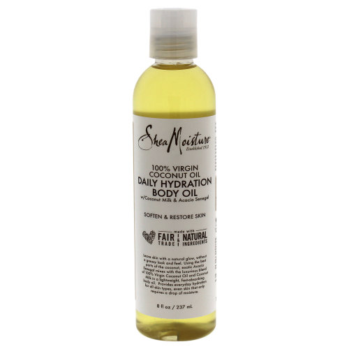 100% Virgin Coconut Oil Daily Hydration Body Oil by Shea Moisture for Unisex - 8 oz Oil