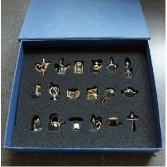 Boxed Set of 18 Lead Crystal Miniature Ornaments …